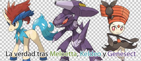 La verdad tras Meloetta, Keldeo y Genesect