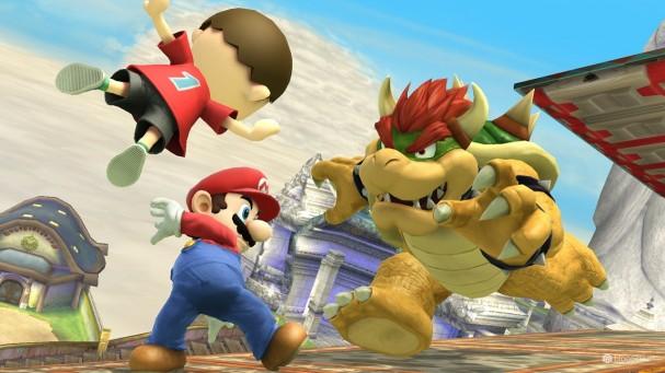 Super Smash Bros - Mario, Aldeano y Bowser